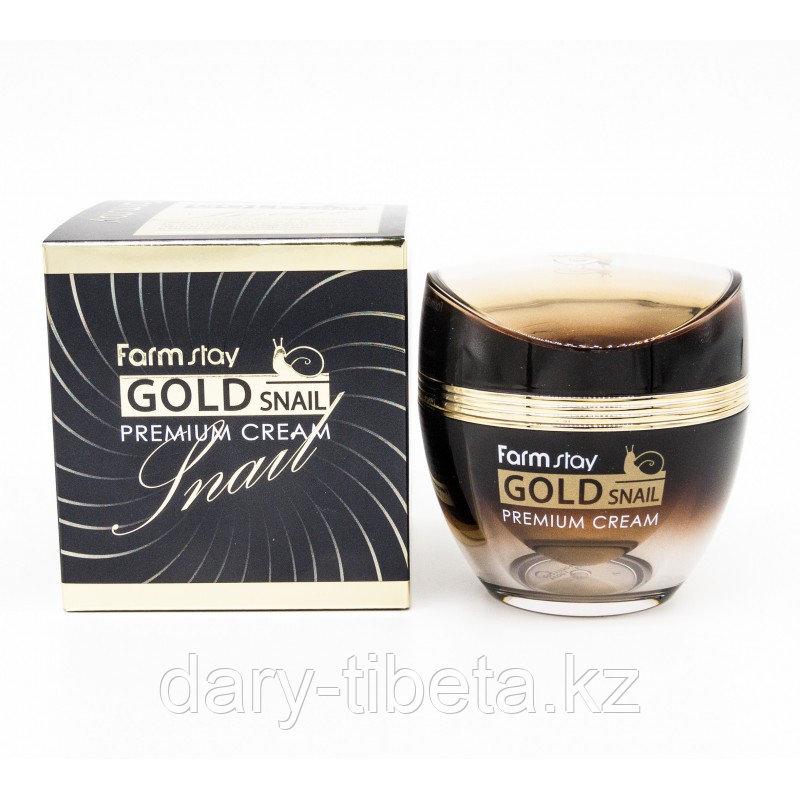 FarmStay Gold Snail Premium Cream- Премиальный крем с золотом и муцином улитки