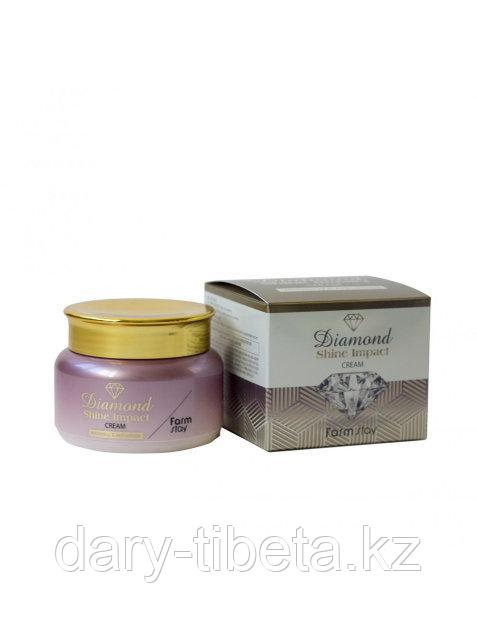 Farm Stay Diamond Shine Impact Cream -Отбеливающий антивозрастной крем для лица (100 гр)