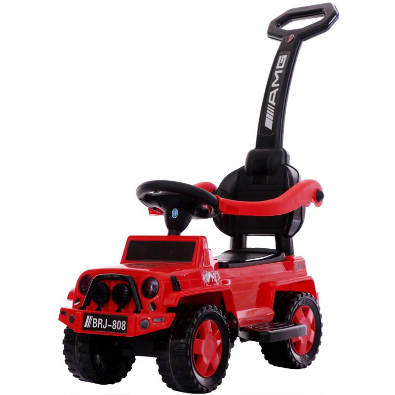 Толокар-каталка Jeep Wrangler BRJ809 3в1, красный