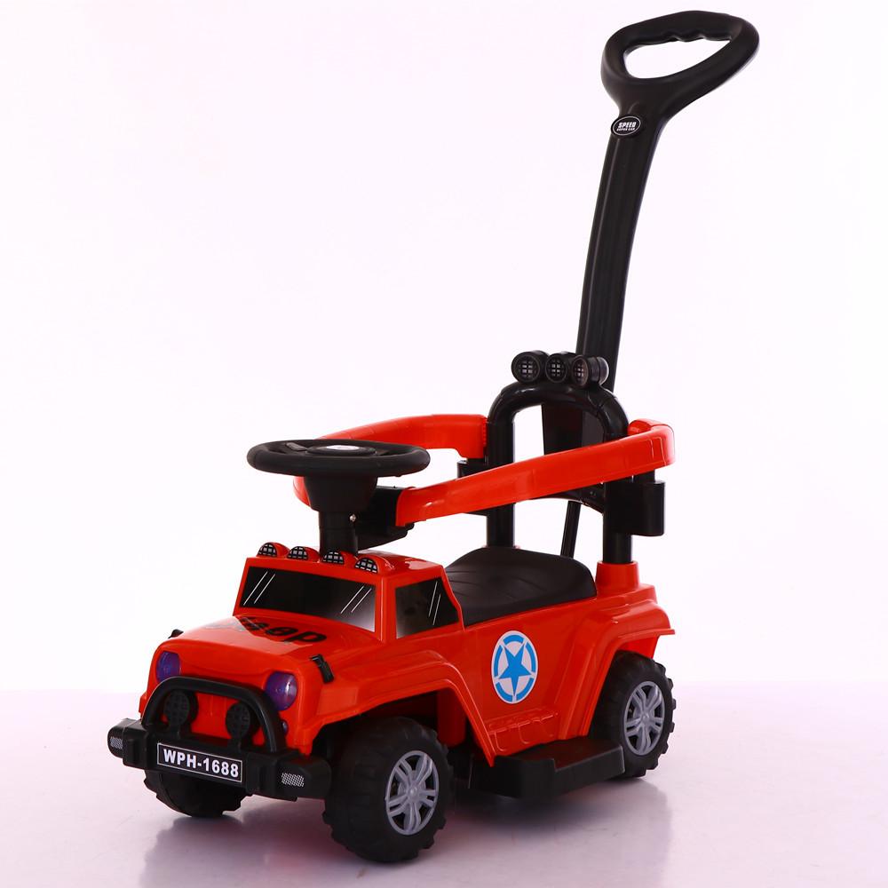 Толокар-каталка Jeep Wrangler WPH1688, 3 в 1, красный
