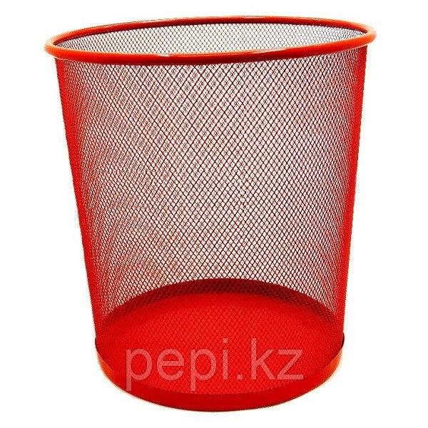 Корзина для бумаг ZiBi, круглая, красная  h 27см d 24cм