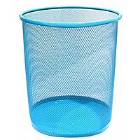 Корзина для бумаг h 34см d 30cм голубая
