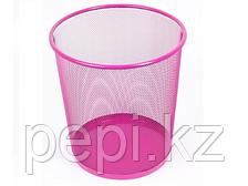 Корзина для бумаг h 34см d 30cм розовая