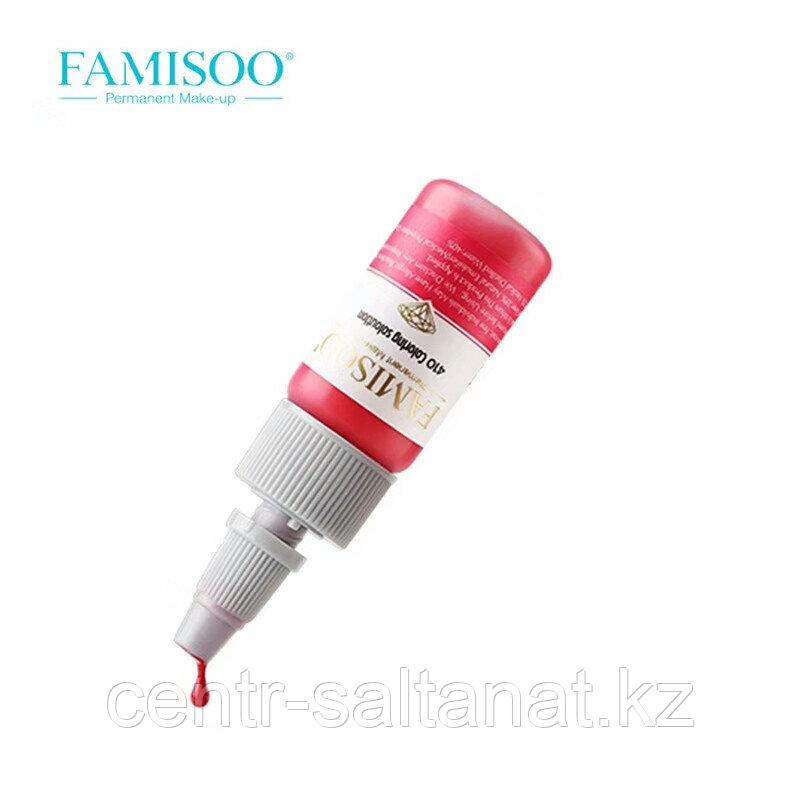 Пигмент Rose Red Famisoo  для татуажа губ