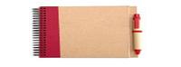 Блокнот с Ручкой. Красный