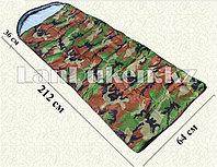 Камуфляжный спальный мешок 212х64см с чехлом