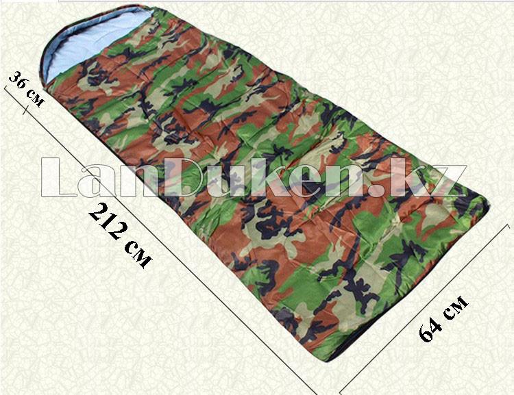 Камуфляжный спальный мешок 212х64см с чехлом - фото 1