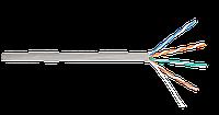 Кабель UTP 4 пары Кат.5e  медный 0,50мм, внутренний, PVC, серый, 305м