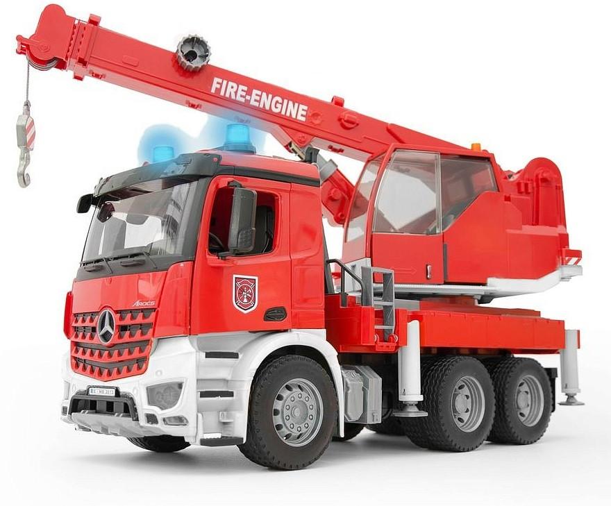 Пожарная машина автокран MB Arocs с модулем со световыми и звуковыми эффектами 03-675