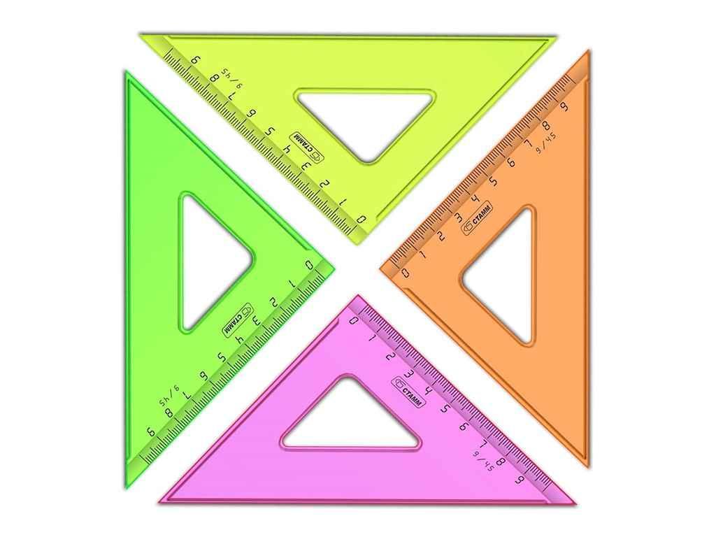 """Треугольник Стамм """"NEON Cristal"""" (30 градусов, 16 см), ассорти"""