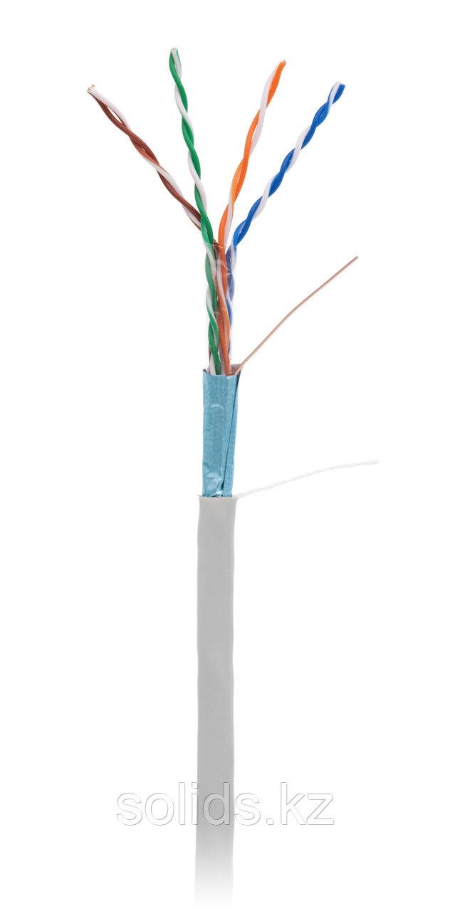 Кабель FTP 4 пары Кат.5e одножильный медный, внутренний, PVC, серый, 305м