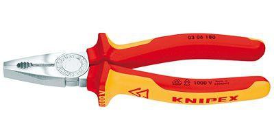 Плоскогубцы комбинированные Knipex KN-0306180 предназначены для выполнения различных монтажных работ: захват и