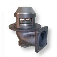 """Пневматический донный клапан 4"""" фильтром из нержавеюшей стали"""