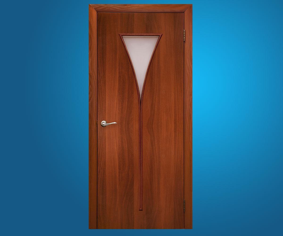 """Ламинированные двери """"Рюмка""""Итальянский орех"""