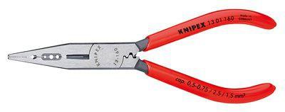 Плоскогубцы для монтажа проводов (сечение кабеля 0,5-0,75/1,5/2,5 mm²) Knipex KN-1301160