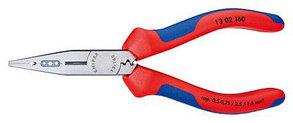 Плоскогубцы для монтажа проводов (сечение кабеля 0,5-0,75/1,5/2,5 mm²) Knipex KN-1302160