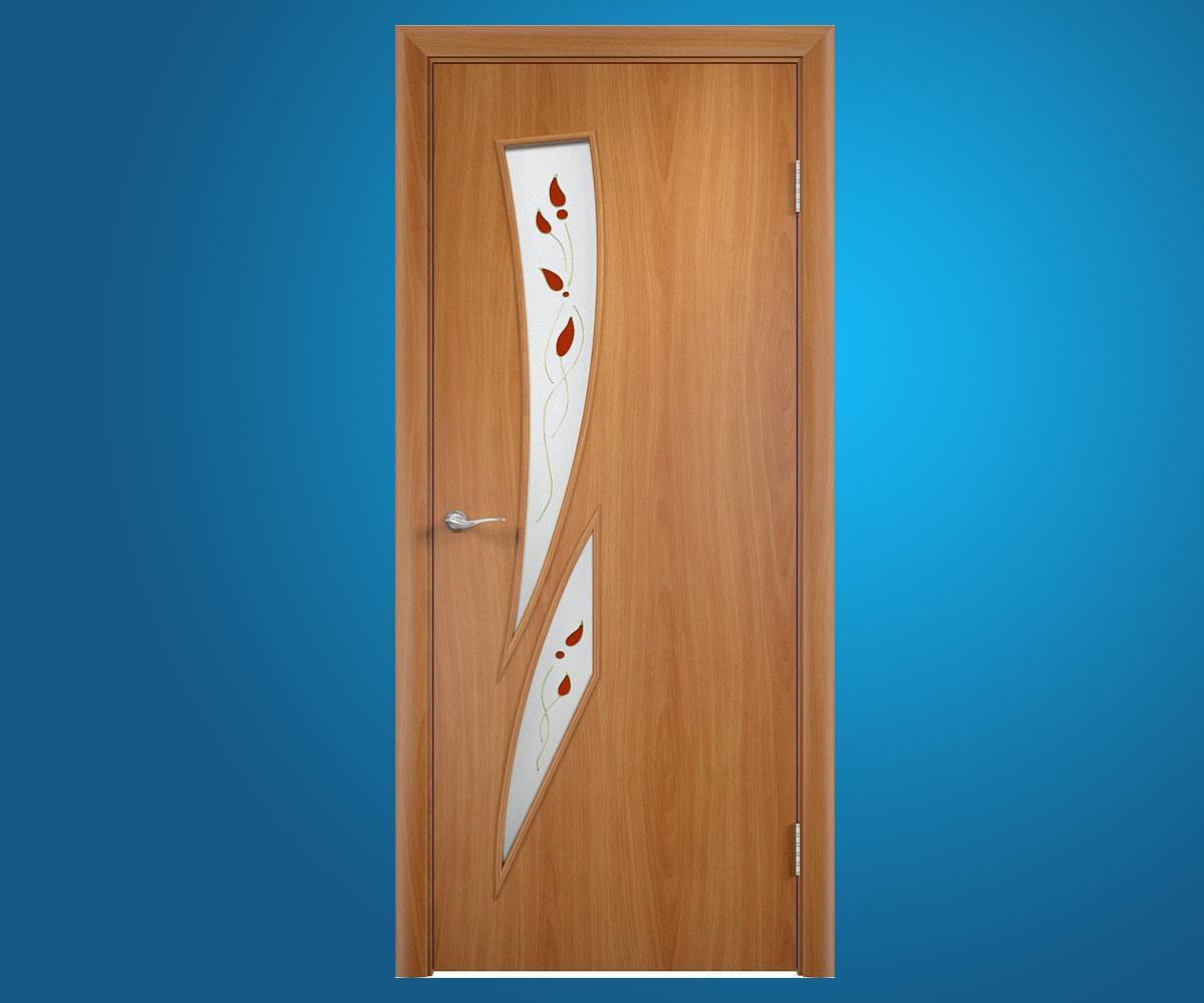 """Ламинированные двери """"Фиеста"""" Миланский орех"""