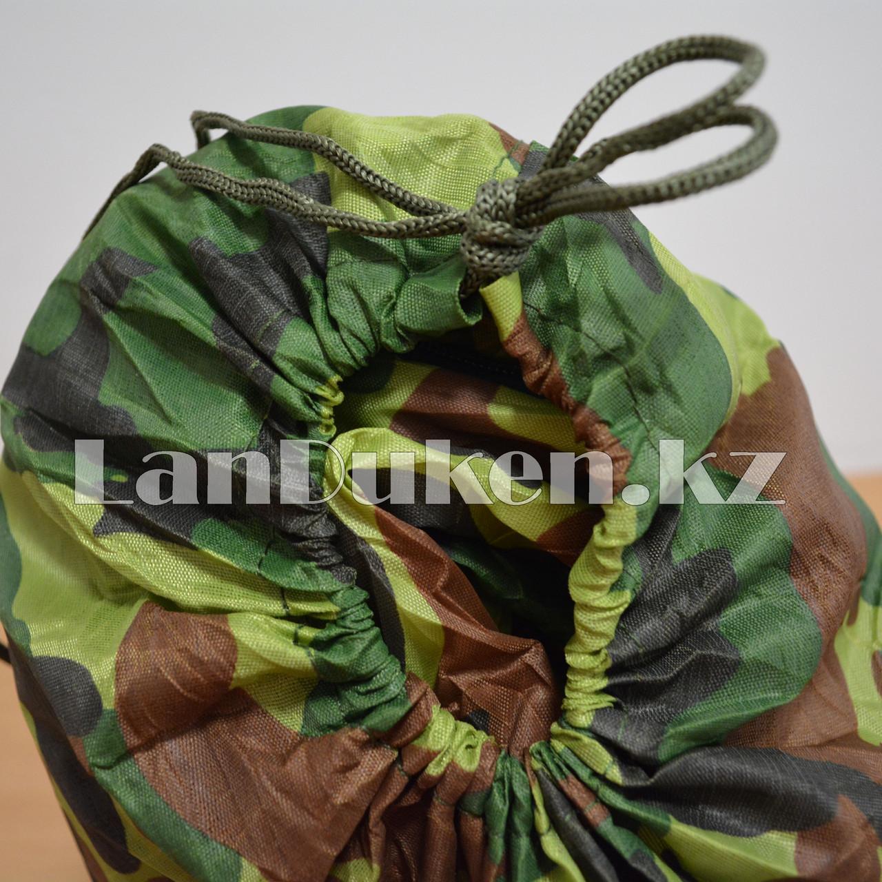 Камуфляжный спальный мешок 212х64см с чехлом - фото 6
