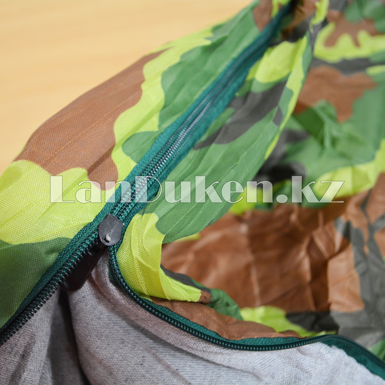 Камуфляжный спальный мешок 212х64см с чехлом - фото 5