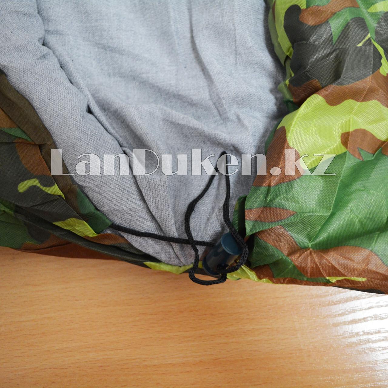 Камуфляжный спальный мешок 212х64см с чехлом - фото 2