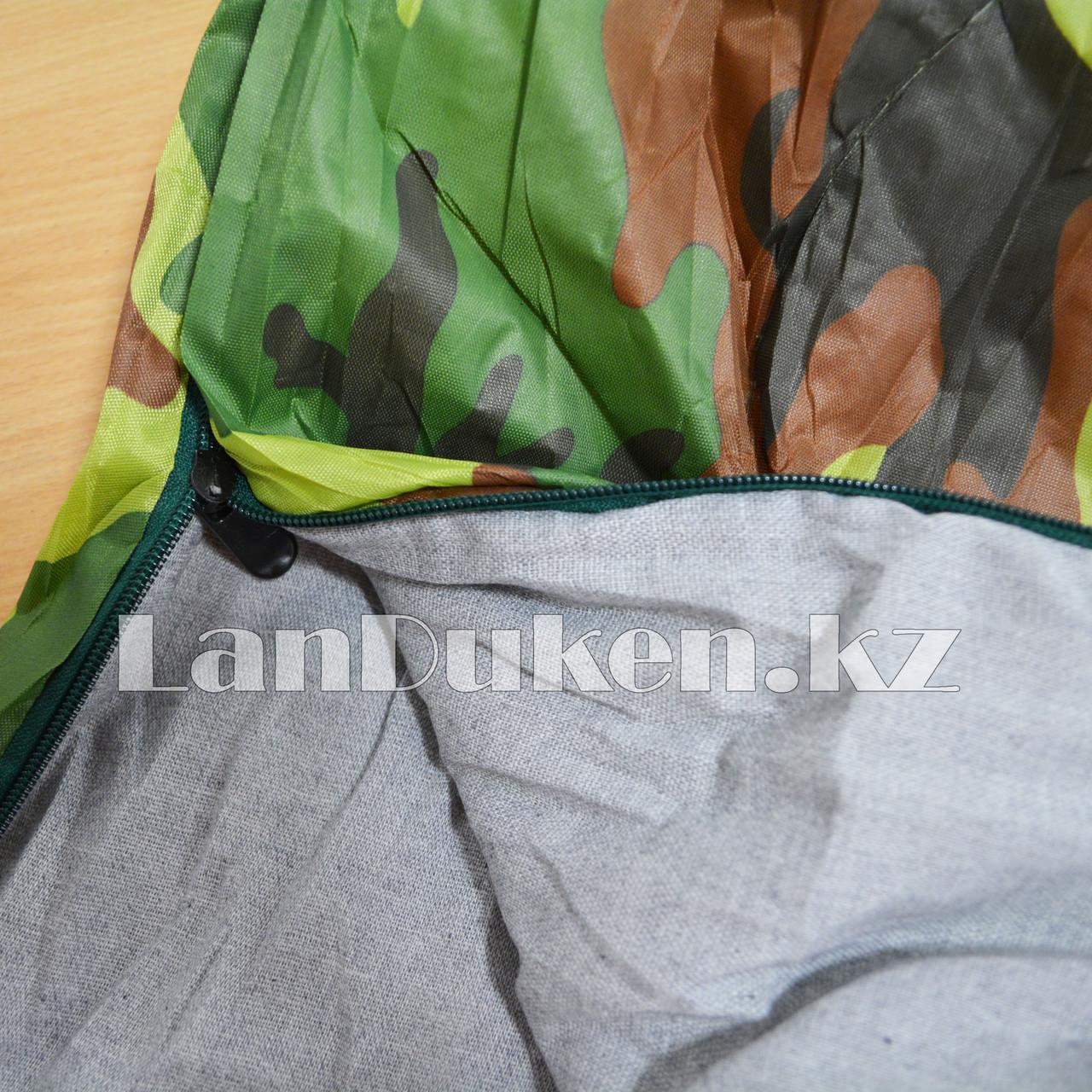 Камуфляжный спальный мешок 212х64см с чехлом - фото 4
