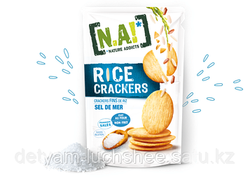 Безглютеновые Рисовые крекеры с морской солью,70 грамм пр-во Тайланд