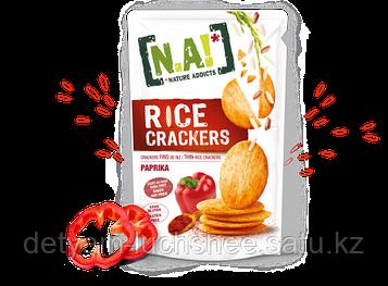 Безглютеновые рисовые крекеры ПАПРИКА,70 грамм,пр-во Тайланд