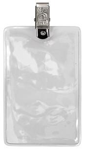 Карман вертикальный гибкий виниловый с металлическим зажимом ST-AC203VP