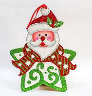 "Гирлянда ""Звезда-дед мороз"", картонная, 28 см, фото 1"