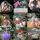 Яйца пластиковые прозрачные для декора. 4 *  6 см. БРАК, Creativ 2282, фото 2