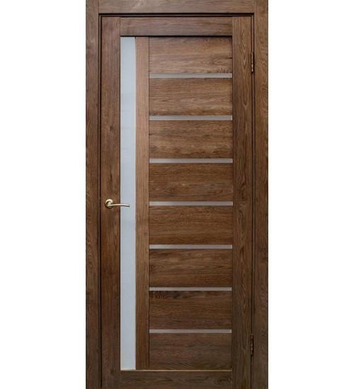"""Межкомнатные двери """"Вертикаль""""Дуб шоколадный"""