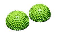Полусфера массажно-балансировочная (набор 2 шт) зеленый FT-MSD-2GN