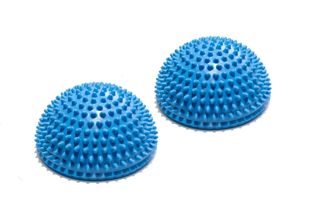 Полусфера массажно-балансировочная (набор 2 шт) синий FT-MSD-2BS