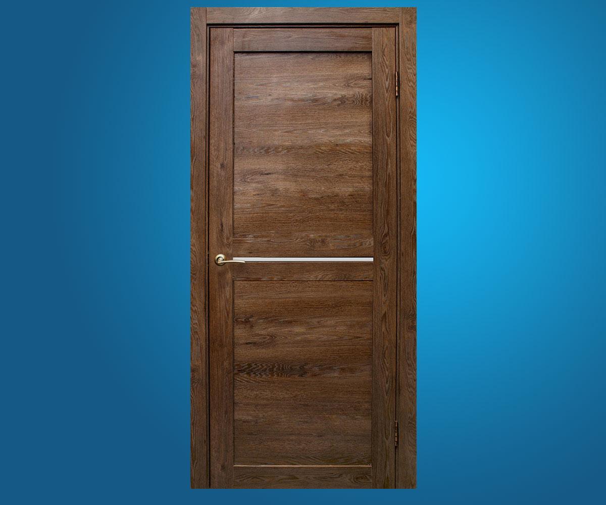 """Межкомнатные двери """"Вектор""""Дуб шоколадный"""