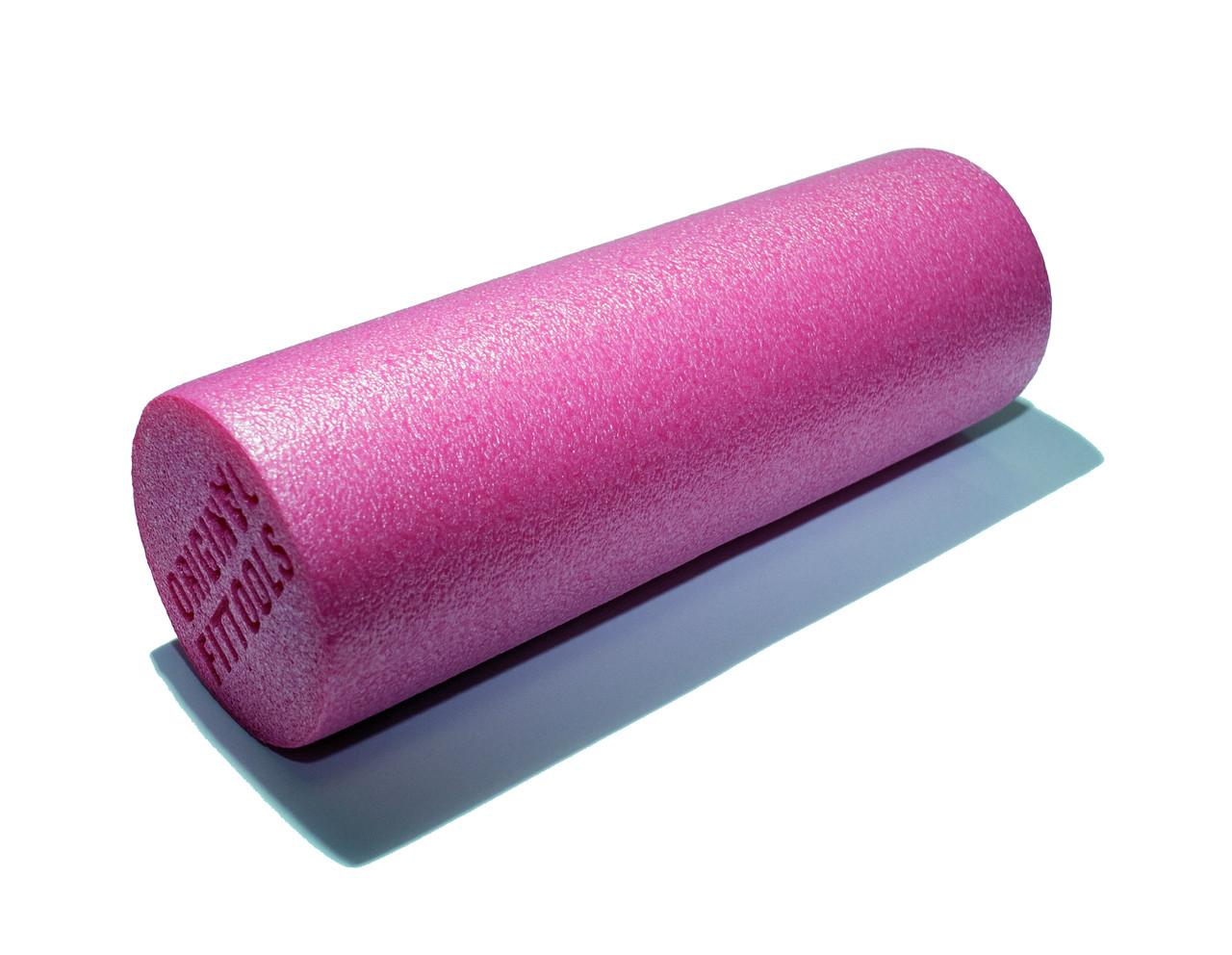 Цилиндр для йоги компактный 30 см EPE розовый