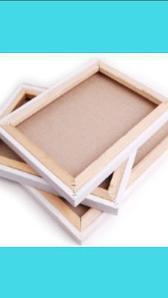 Холсты для рисования на деревянном подрамнике.