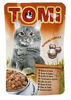 TOMI пауч - для кошек (гусь с печенью) 100 гр.