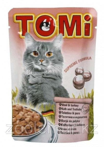 TOMI пауч - для кошек (телятина и индейка) 100 гр.