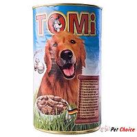 TOMI консервы - для собак  (пять видов мяса) 1.2 кг.