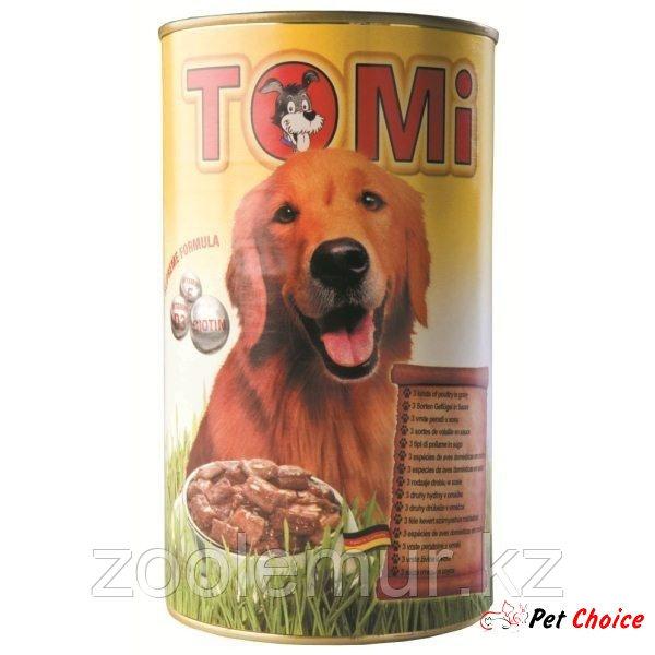 TOMI консервы - для собак  (три вида птицы) 1.2 кг.