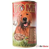 TOMI консервы - для собак  (с говядиной) 1.2 кг.