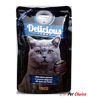 ToMi Delicious «Норвежская кухня» консервы для кошек (с лососем и форелью) 100 гр.