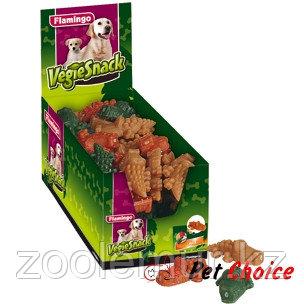 Flamingo  Косточки  для очистки зубов (крокодил) смесь 9 см