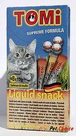 «TOMI» лакомство-соус для кошек упаковка 8шт*15гр. лосось + инулин