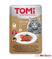TOMI консервы для кошек-пауч GF c птицей в томатном желе 100 гр.