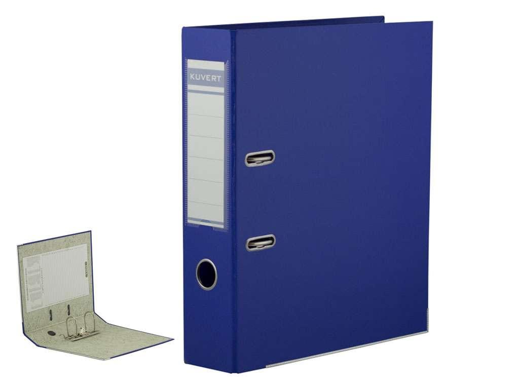 Папка-регистратор KUVERT А4, ширина корешка 72 мм, синяя