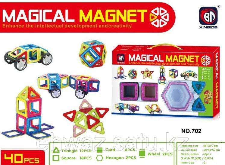 Магнитный 3D конструктор Magical Magnet 40 деталей.