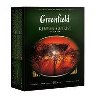 Greenfield черный чай Kenyan Sunrise, 100 пакетиков