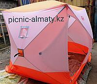 Палатка для зимней рыбалки Куб Следопыт 4х местная однослойная