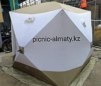 Палатка для зимней рыбалки Куб Следопыт Премиум 3х слойная на синтепоне